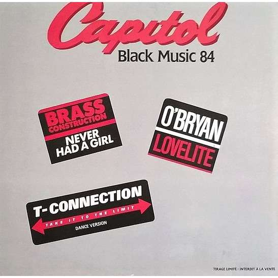 Capitol Black Music 1984 (Not For Sale) Various - Brass Construction,T-Connection,O'Bryan
