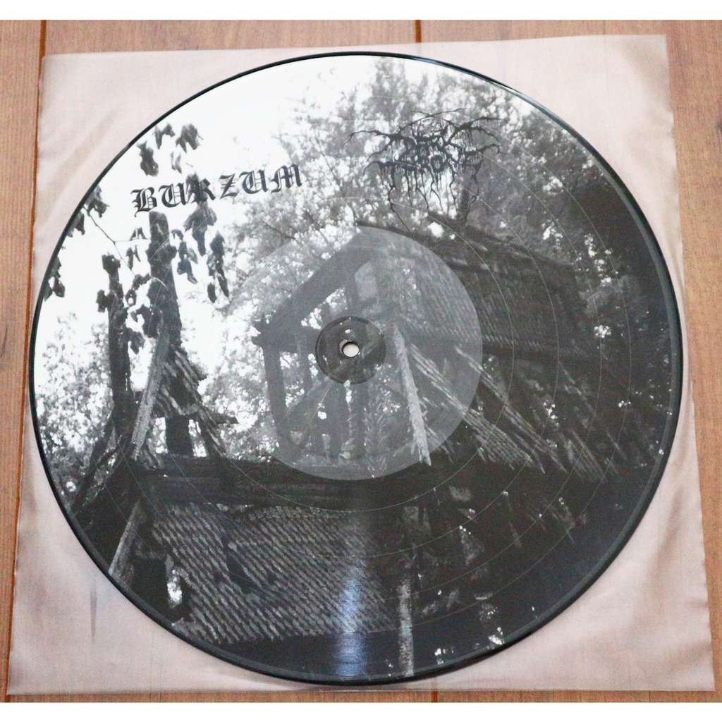 Burzum / Darkthrone Advanced Tape LP 1- / Under A Funeral Moon Rehearsal- / very limited picture disc lp, 100 only!