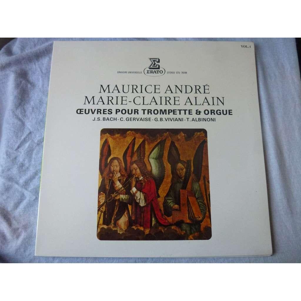 MAURICE ANDRE / MARIE CLAIRE ALAIN oeuvres pour trompette & orgue - vol 1 - ( stéréo mint condition )