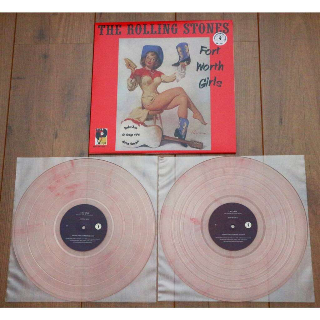 The Rolling Stones Fort Worth Girls / Limited & numbered edition 2lp, pink vinyl, 500 copies only