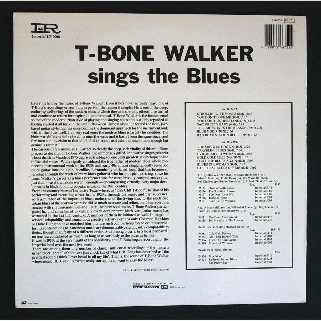 T-Bone Walker Sings The Blues