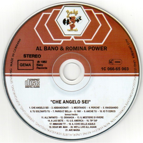 Al Bano & Romina Power Che Angelo Sei + Bonus Tracks