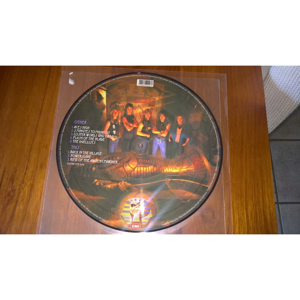 IRON MAIDEN POWERSLAVE (LP) PICTURE DISC PROMO