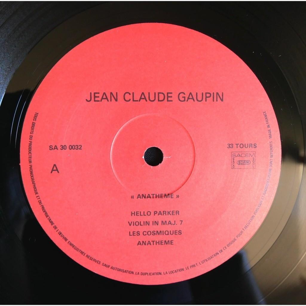 Jean Claude Gaupin Anatheme