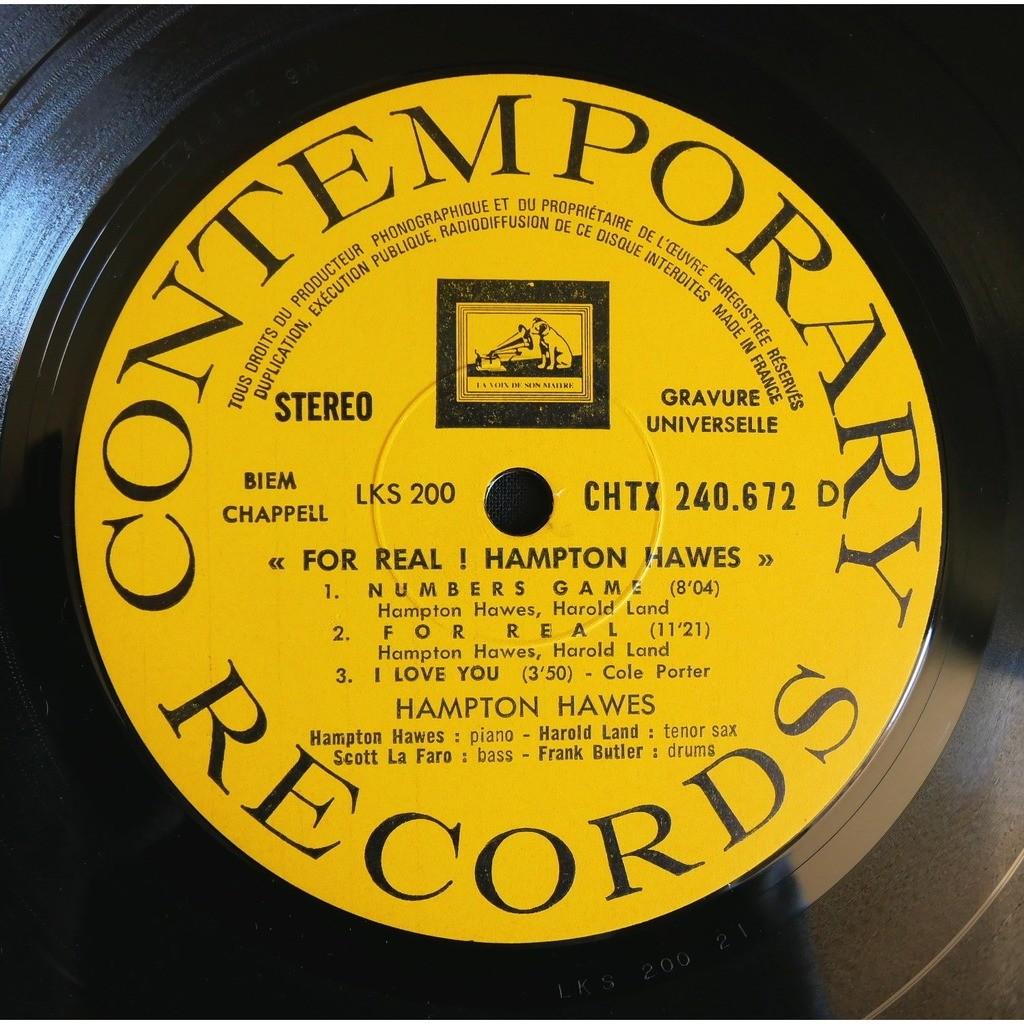 Hampton Hawes Quartet / Scott LaFaro For Real !