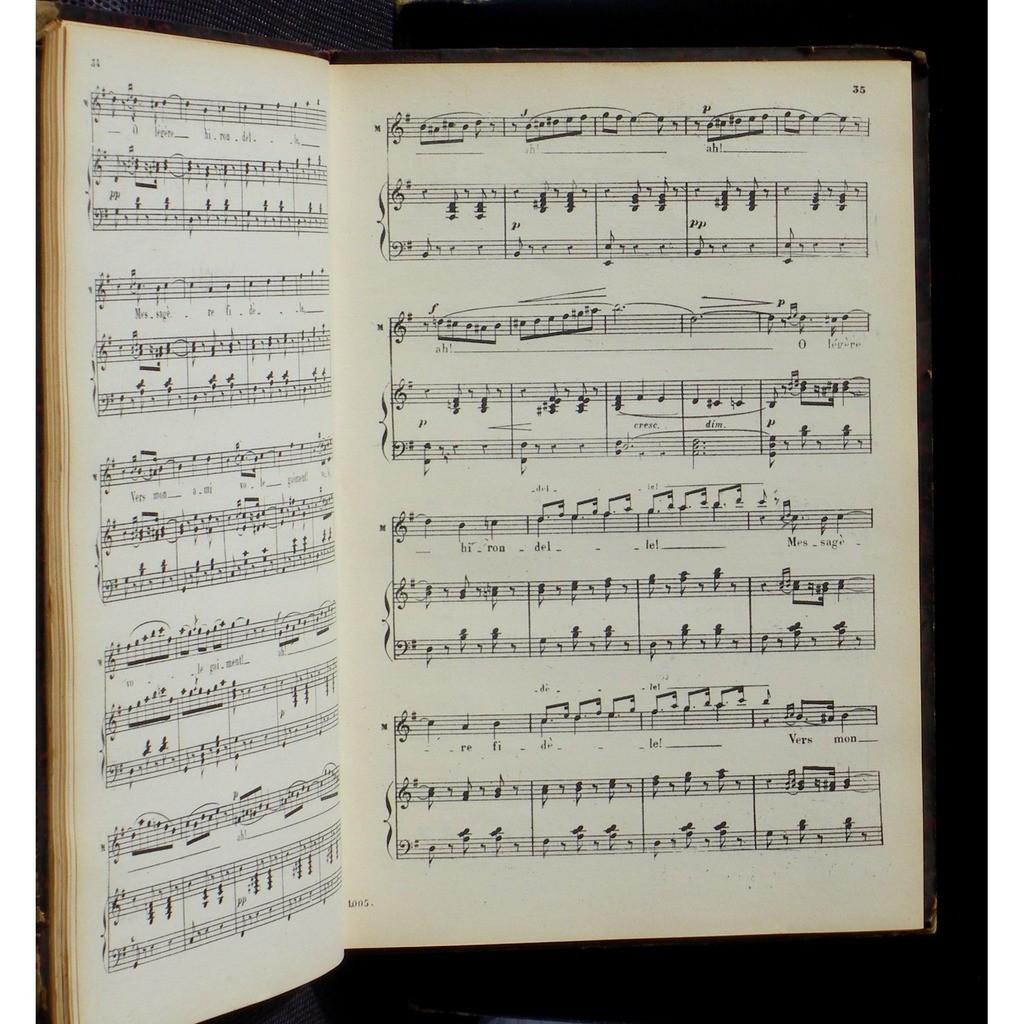 Partition / Score Gounod Mireille Choudens EX+ Partition / Score chant et piano Gounod Mireille ChoudGounod Mireille Choudens EX+