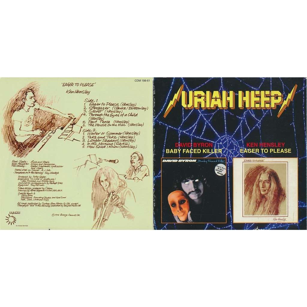 Baby Faced Killer 1978 Eager To Please 1975 2on1 By David Byron Ken Hensley Cd With Burtech Ref 119594024