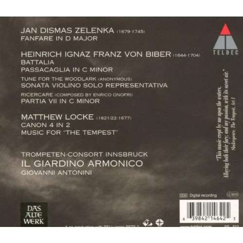 IL GIARDINO ARMONICO BIBER / LOCKE / BATTALIA / THE TEMPEST