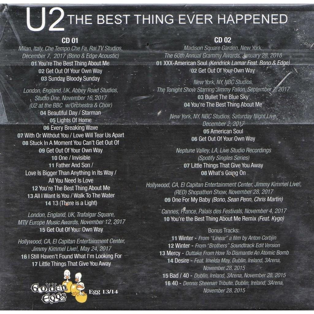 u2 The Best Thing Ever Happened (London Abbey Road Stdios 16.11.2017 & Milano RAI TV 07.12.2017 etc.)