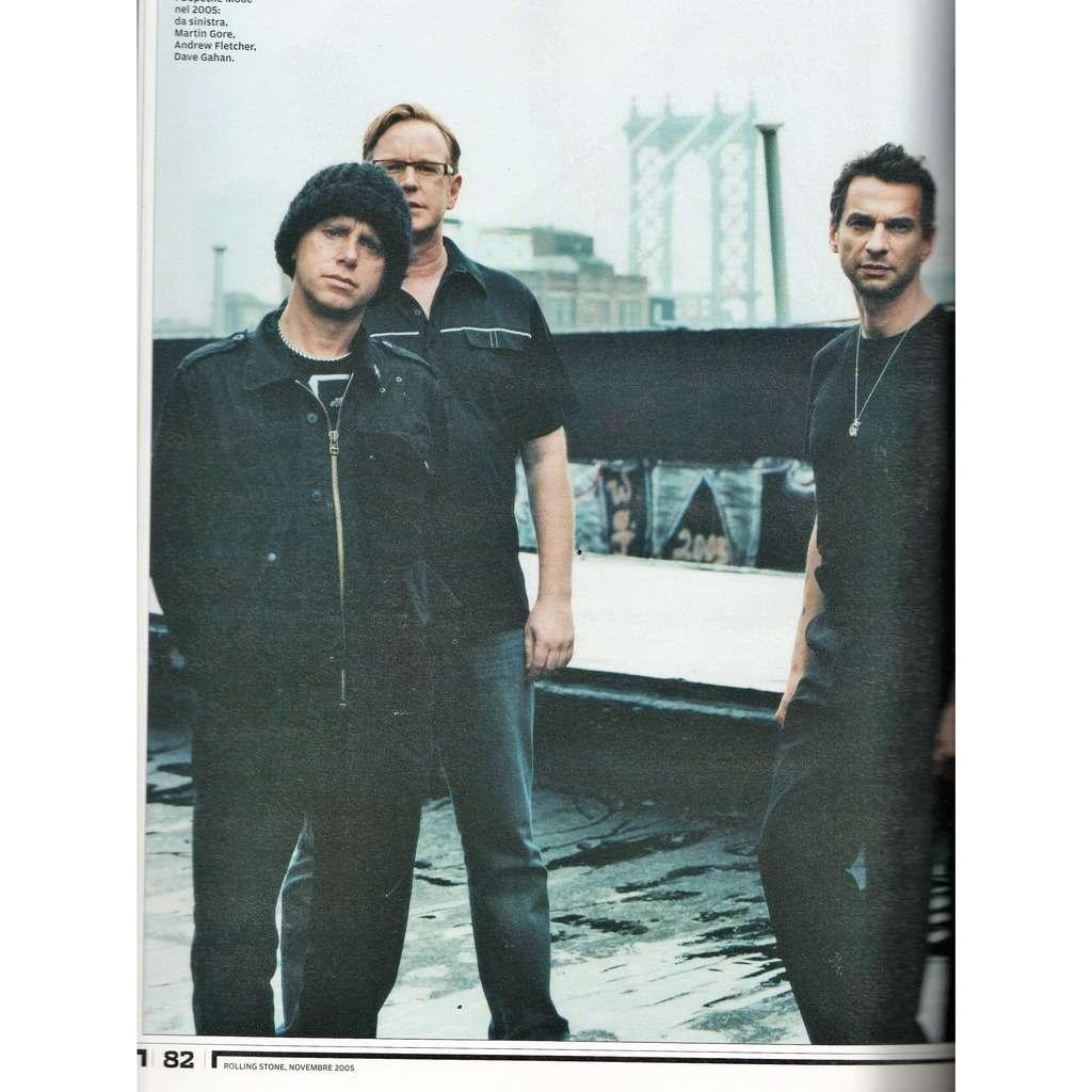 Depeche Mode Rolling Stone (N.25 Nov. 2005) (Italian 2005 deluxe music magazine!!)