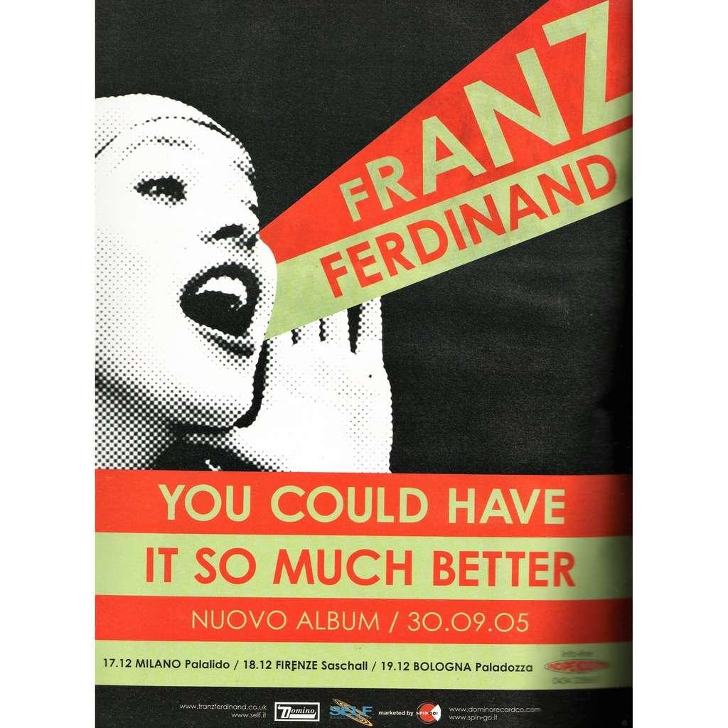 Franz Ferdinand Italian Tour Dec. 2005 (Italian 2005 original promo type advert 'Tour dates' Concert poster!)
