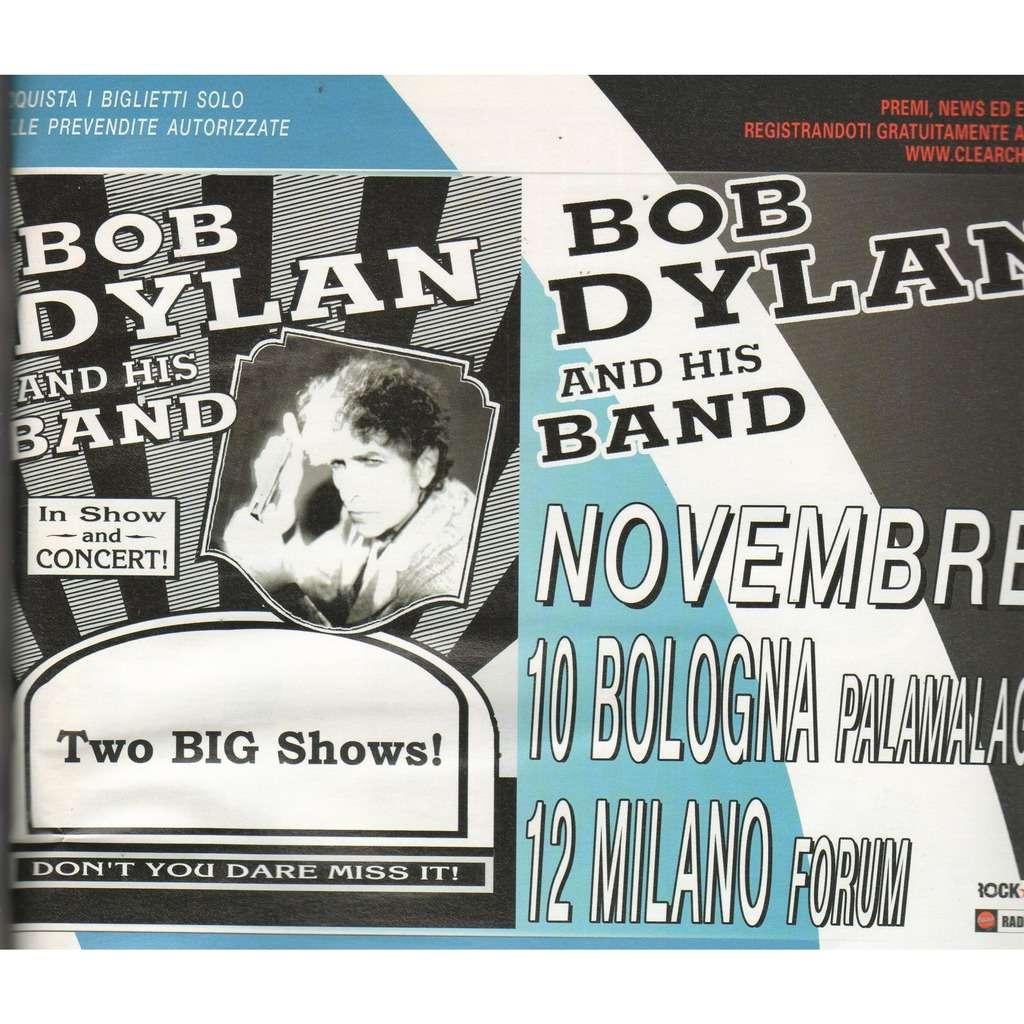 Bob Dylan Bologna 10 & Milano 12 Nov. 2005 (Italian 2005 promo type advert 'Tour dates' concert poster flyer!)