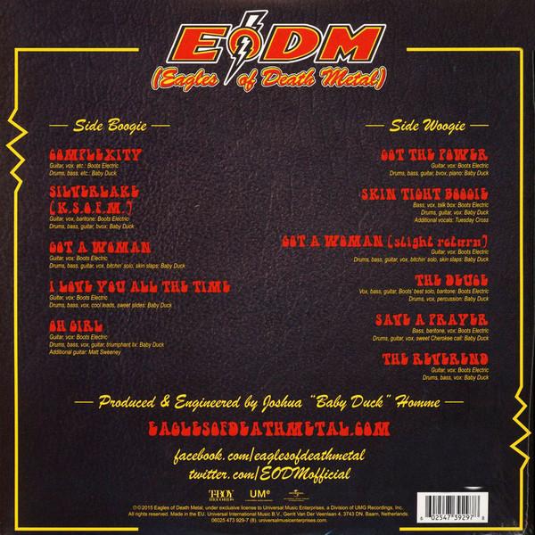 Eagles Of Death Metal Zipper Down (lp) Ltd Edit Gatefold Sleeve -E.U