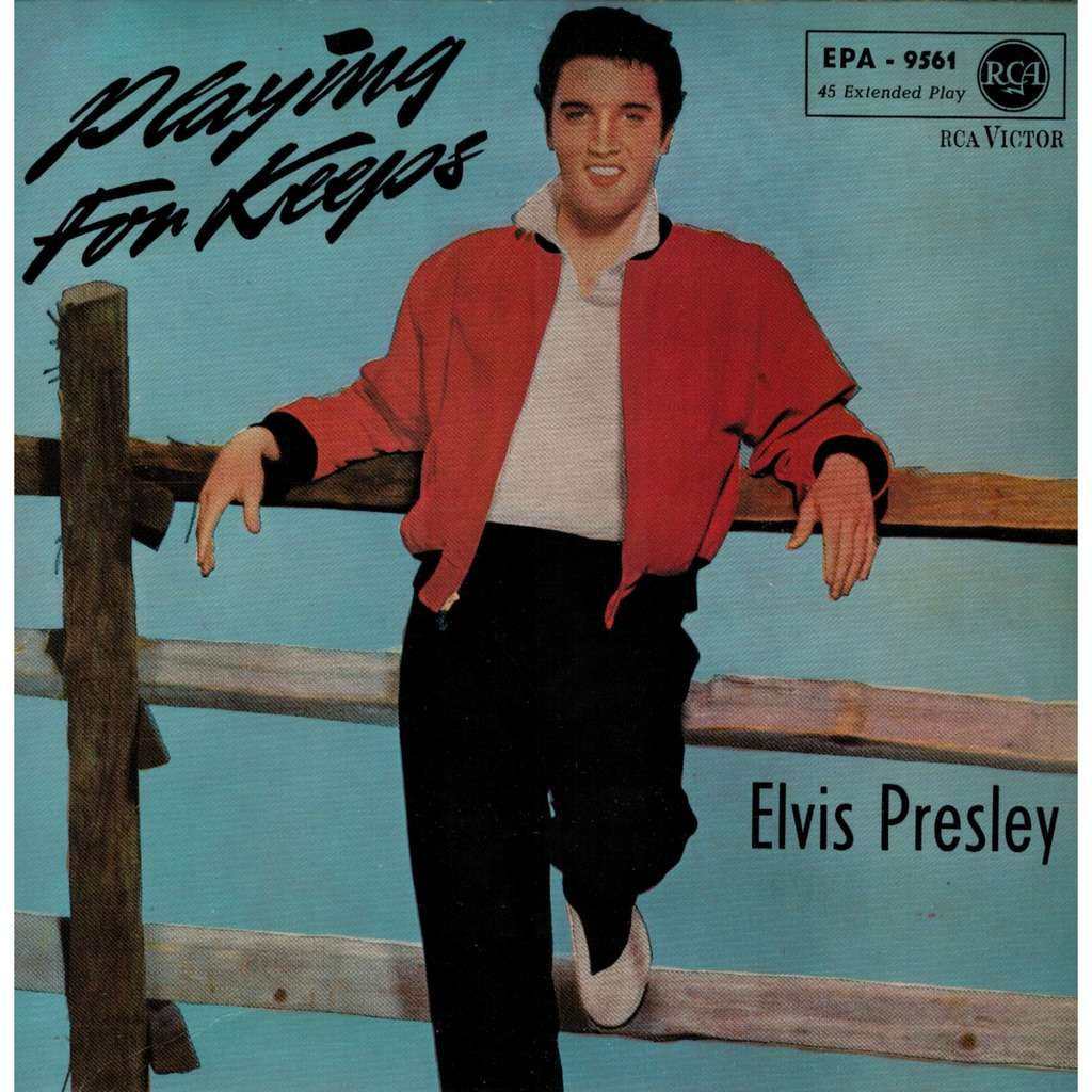 elvis presley 1 black label noir EP germany PLAYING FOR KEEPS RCA EPA 9561