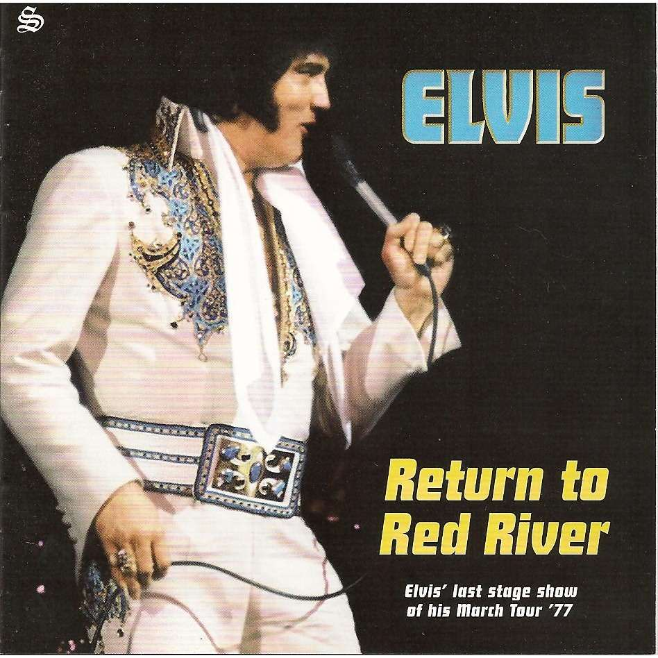 elvis presley 1 cd return to red river 30/3/77 alexandria show