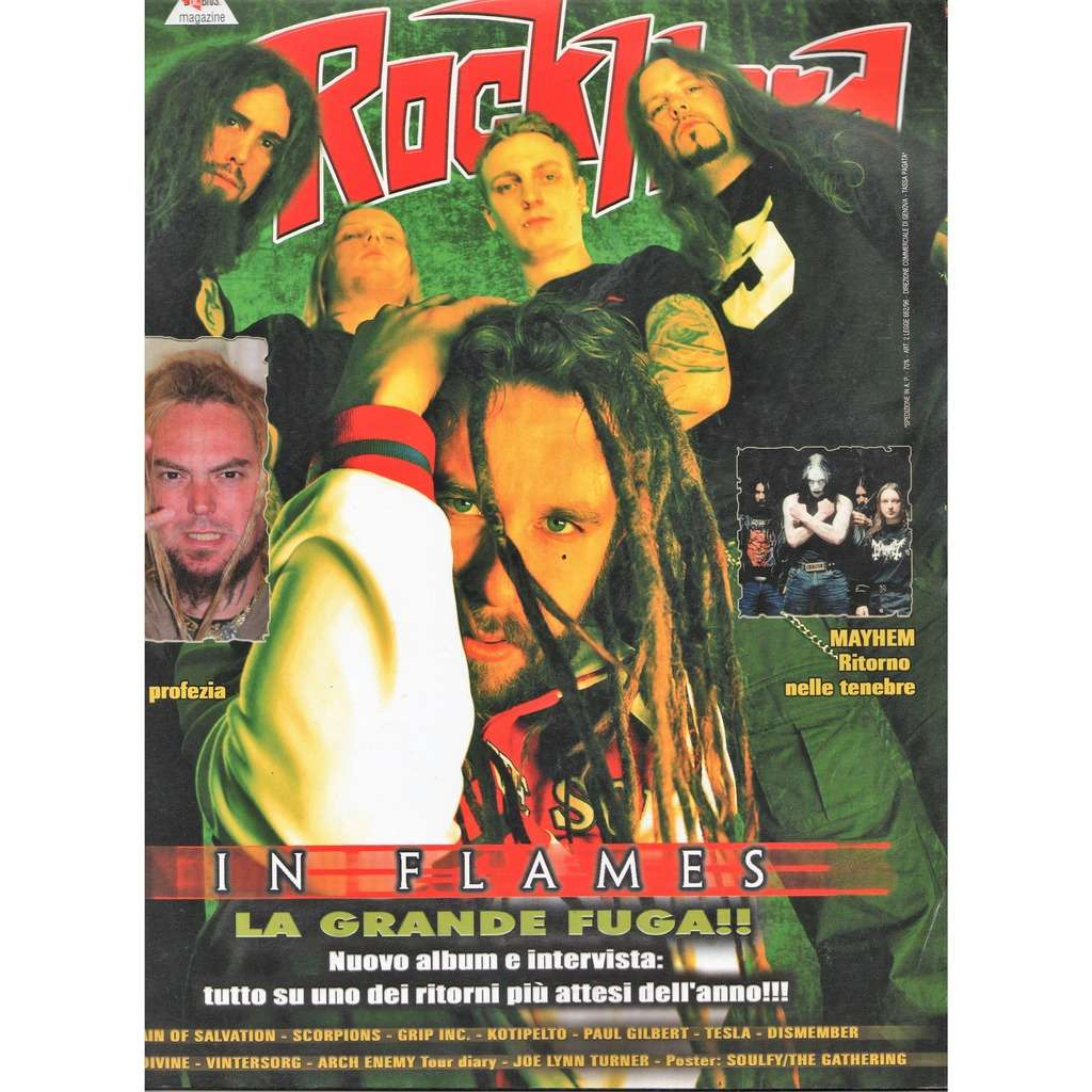 In Flames Rock hard (N.21 April 2004) (Italian 2004 In flames front cover magazine!!)