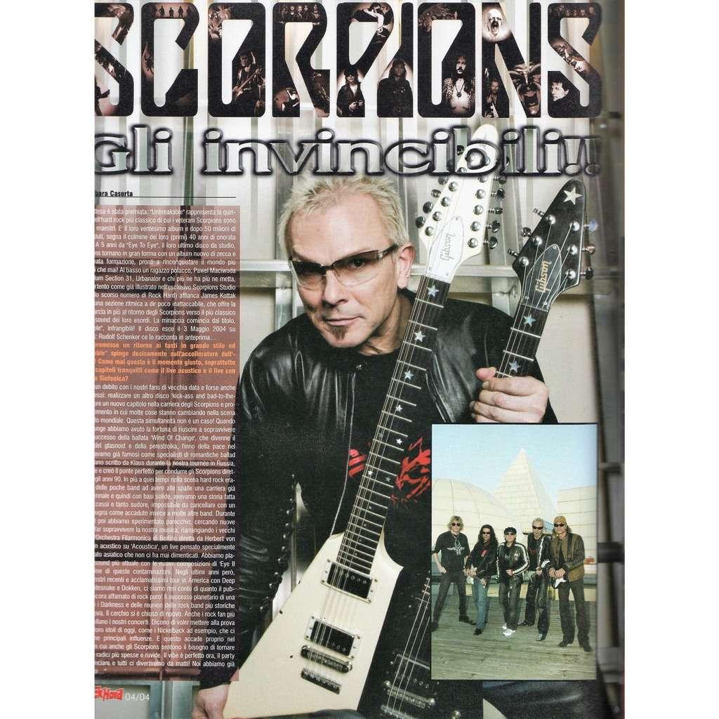 Scorpions Rock hard (N.21 April 2004) (Italian 2004 music magazine!!)