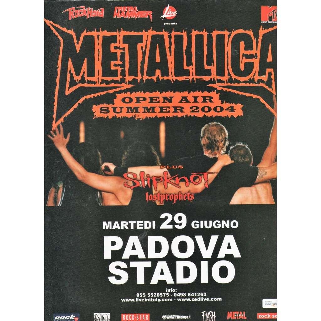 Metallica / Slipknot Padova 29.06.2004 (Italian 2004 original promo type advert Concert poster!!)
