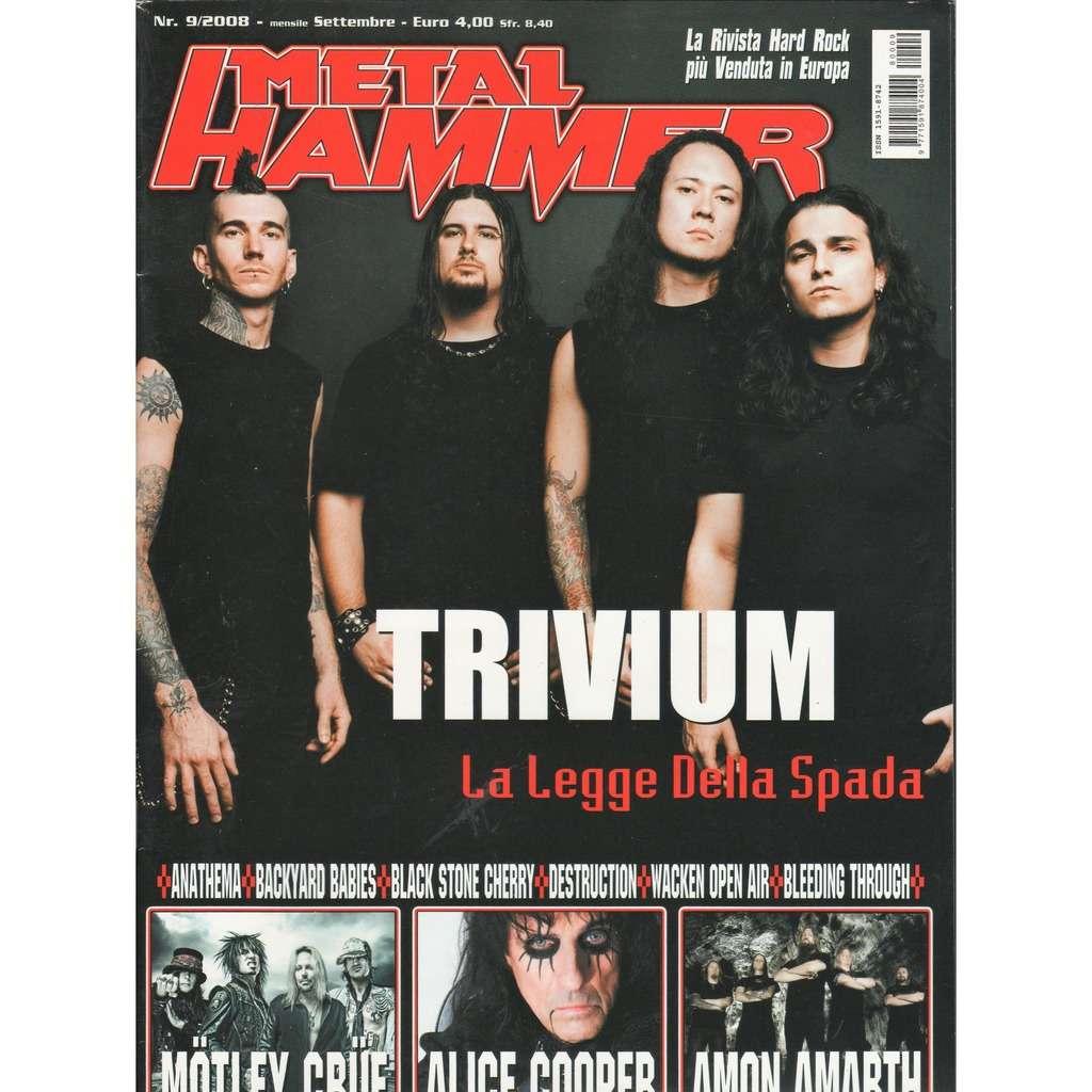 Trivium Metal Hammer (N.09 Sept. 2008) (Italian 2008 Trivium front cover magazine!!)