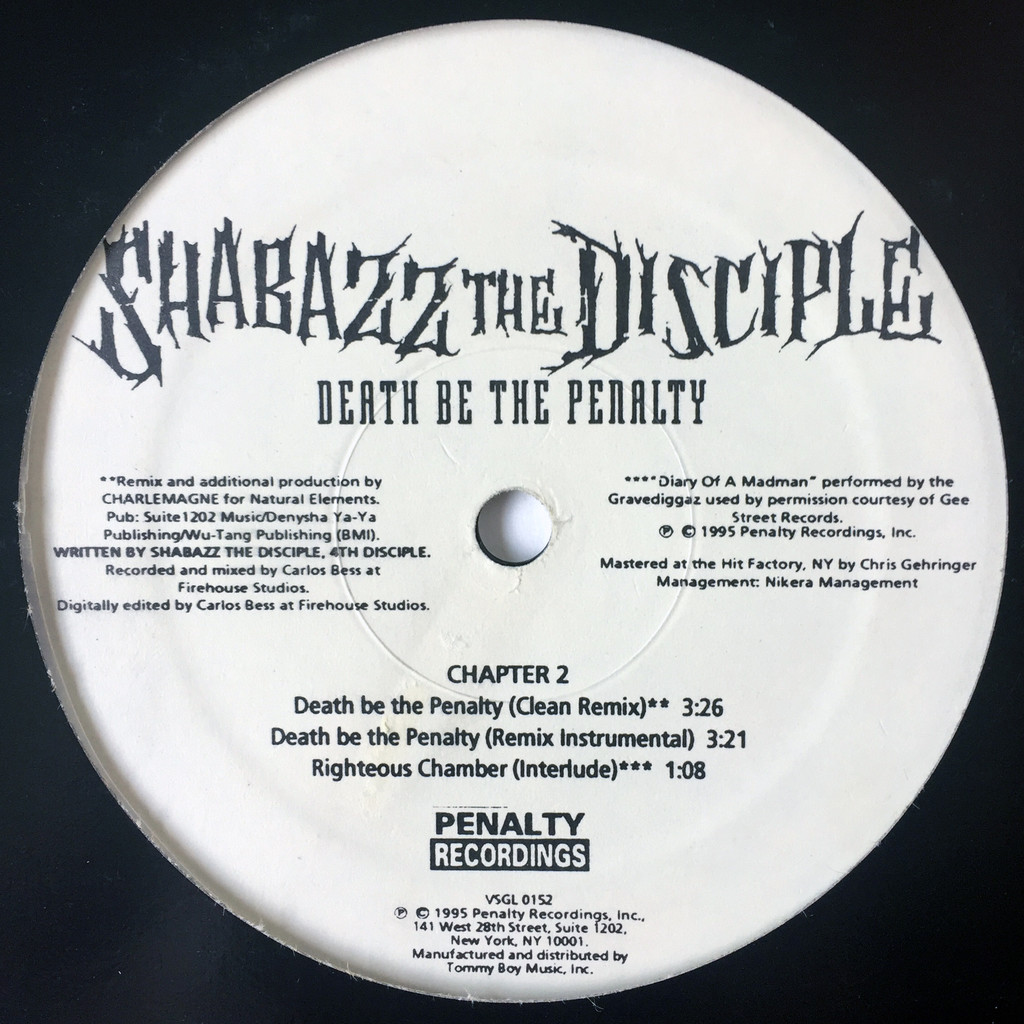 Shabazz The Disciple Death Be The Penalty