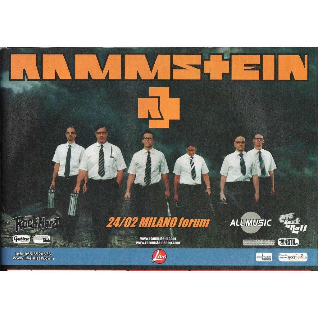 Rammstein Milano Forum 24.02.2005 (Italian 2005 original promo type advert concert fflyer!!)