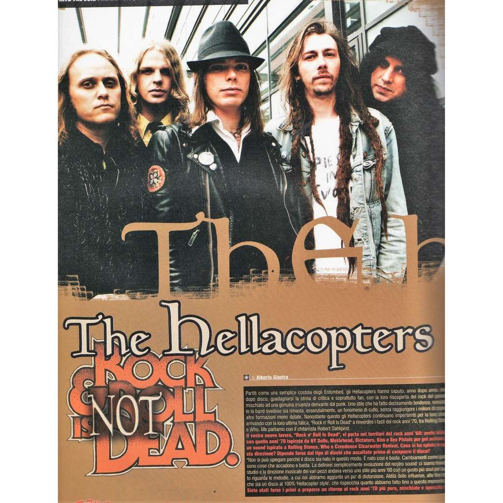 Hellacopters Rock Hard (N.37 Oct. 2005) (Italian 2005 music magazine!)