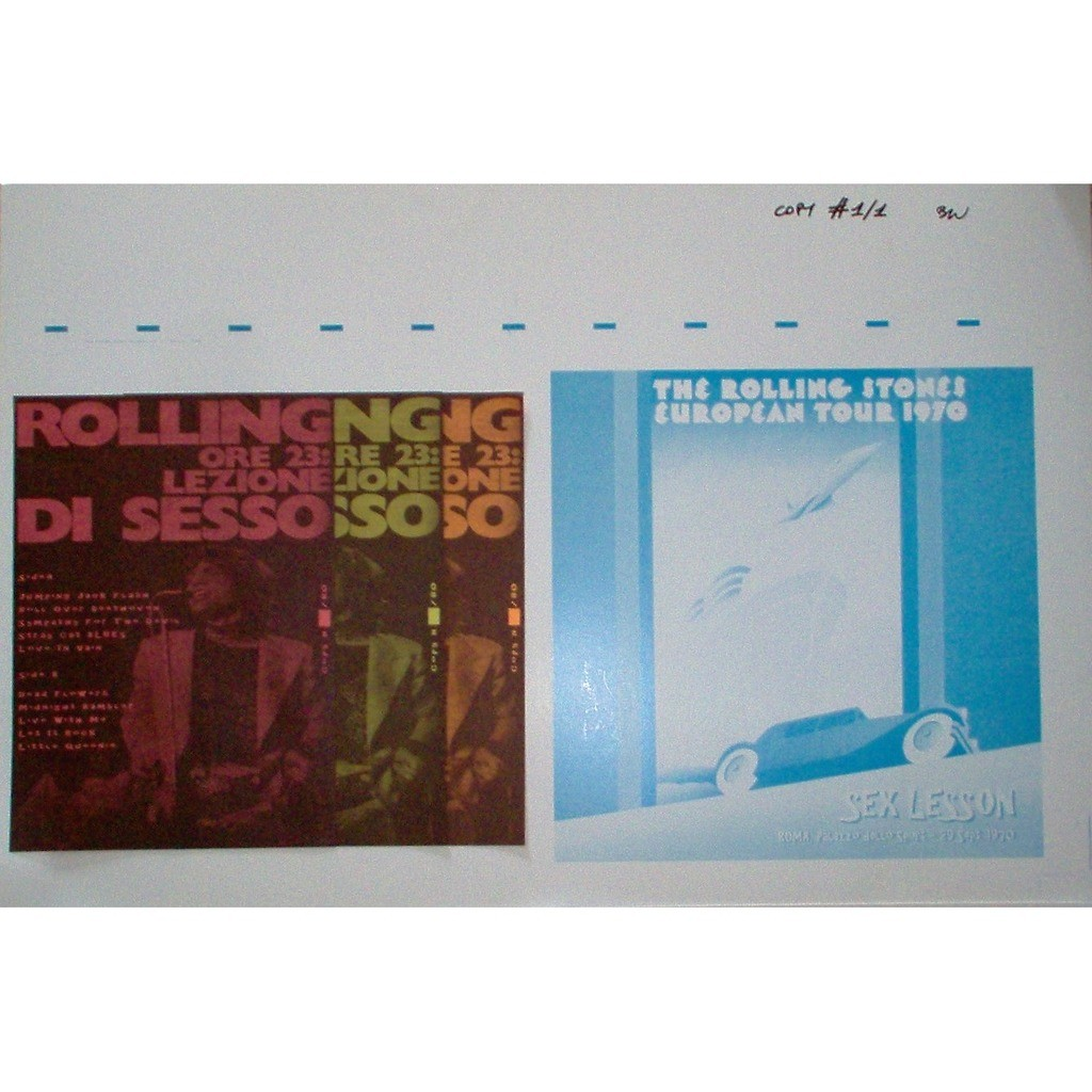 The Rolling Stones Sex Lesson (Roma 29.09.70) (unique custom copy 2x 1-sided 'Mother'metal stampers+test ps+inserts!!)