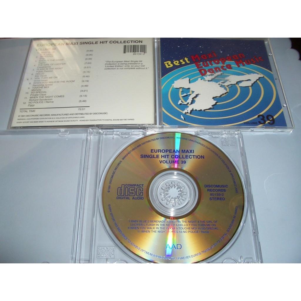 European Maxi Single Hit Collection vol.39 Nick Letizia,Shah,Saphir,Casablanca,Public Passion,Kim Davis,Good News,Ramming Speed,Ziggy,Michelle