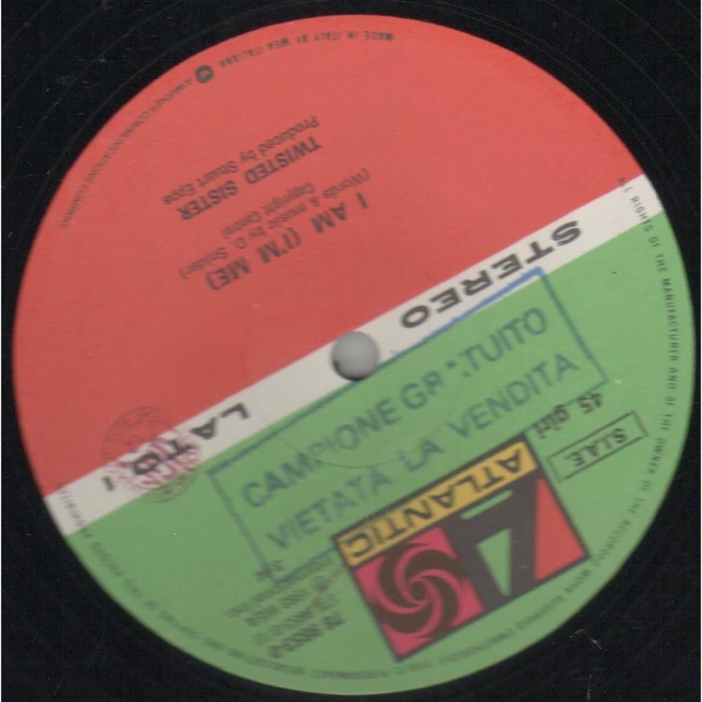 twisted sister I Am (I'm Me) (Italian 1983 original Ltd 4-trk 12ep promo Wea slv!)