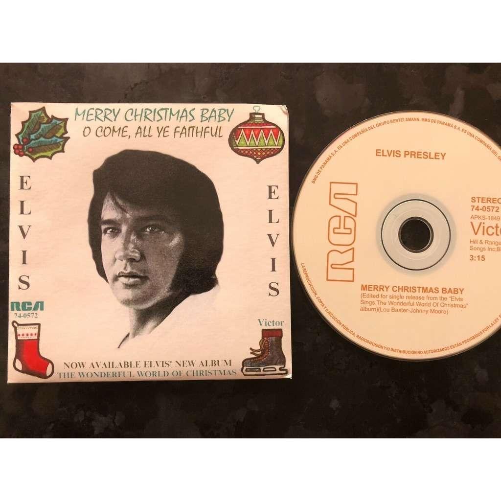 elvis presley 1 cd merry christmas baby w/single sleeve panama