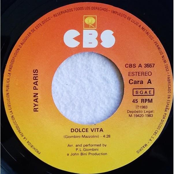 Ryan Paris Dolce Vita / Dolce Vita (Instrumental)