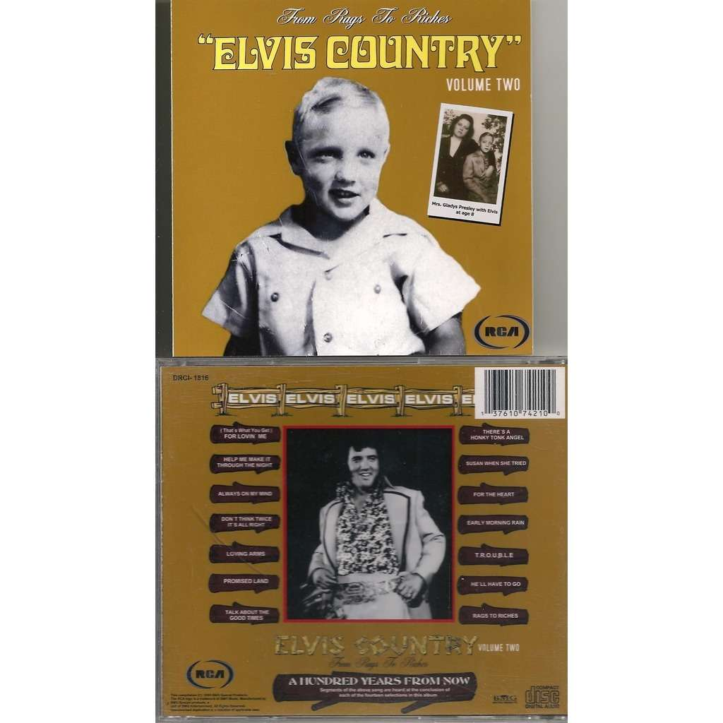 elvis presley 1 cd from rags to riches elvis country vol.2 cd 15 outtakes