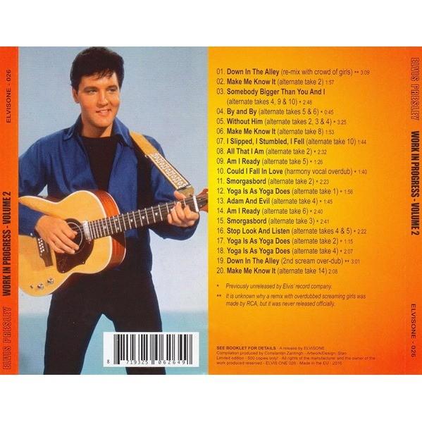 elvis presley 1 cd work in progress vol.2 cd 26 outtakes