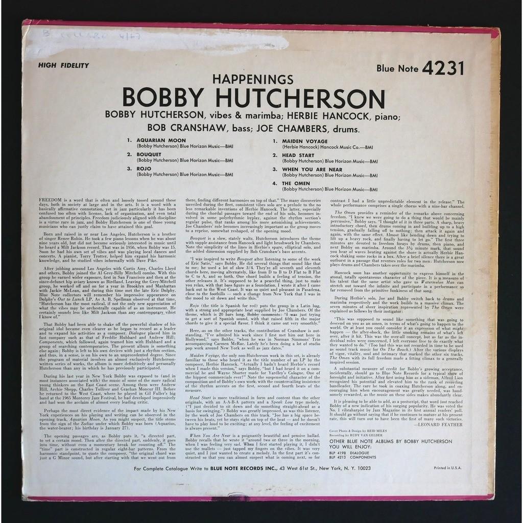 Bobby Hutcherson Happenings