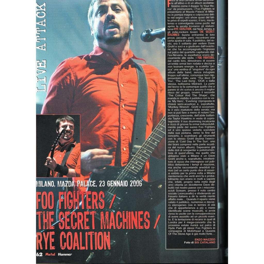 Foo Fighters Metal Hammer (N.3 March 2006) (Italian 2006 music magazine!!)