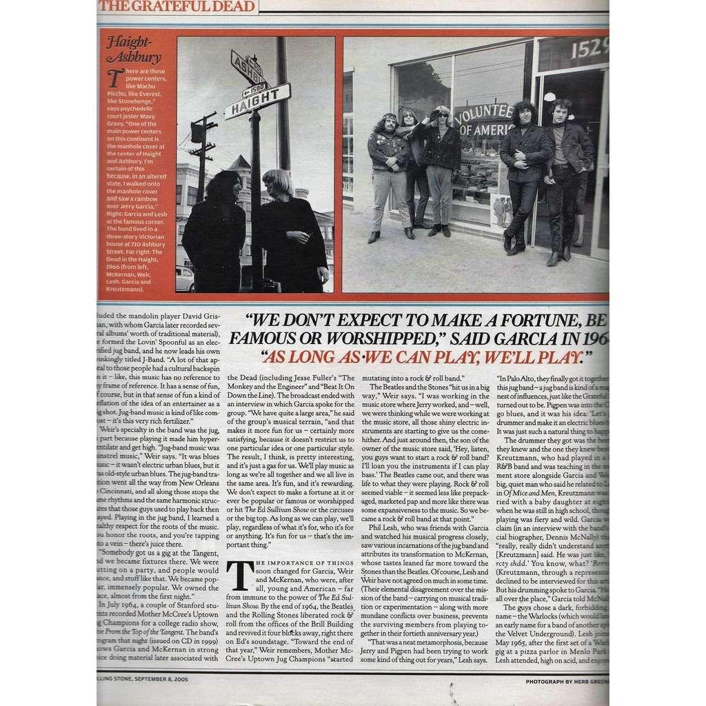 Grateful Dead Rolling Stone (N.982 Sept. 2005) (USA 2005 music magazine!!)