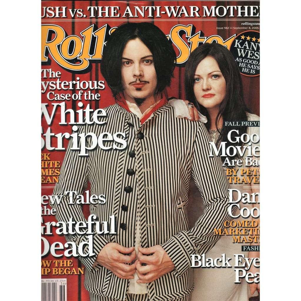 White Stripes Rolling Stone (N.982 Sept. 2005) (USA 2005 White Stripes front cover music magazine!!)