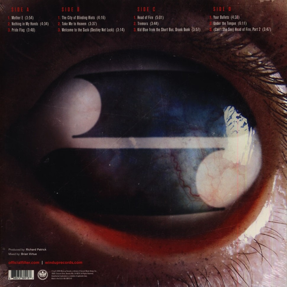 Filter Crazy Eyes (2xlp) Ltd Edit Coloured Vinyl -USA