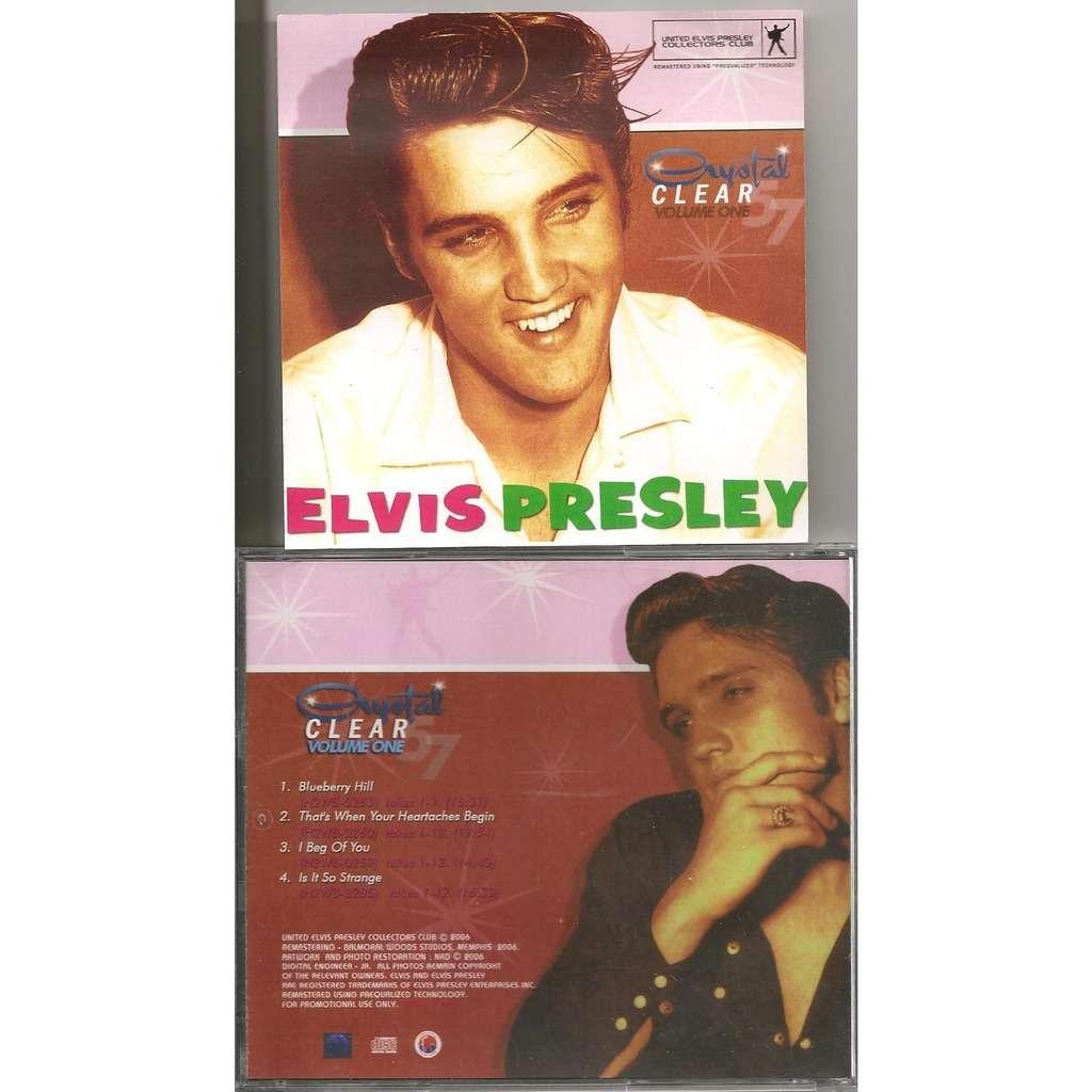 elvis presley 1 cd crystal clear vol.1 cd 46 outtakes
