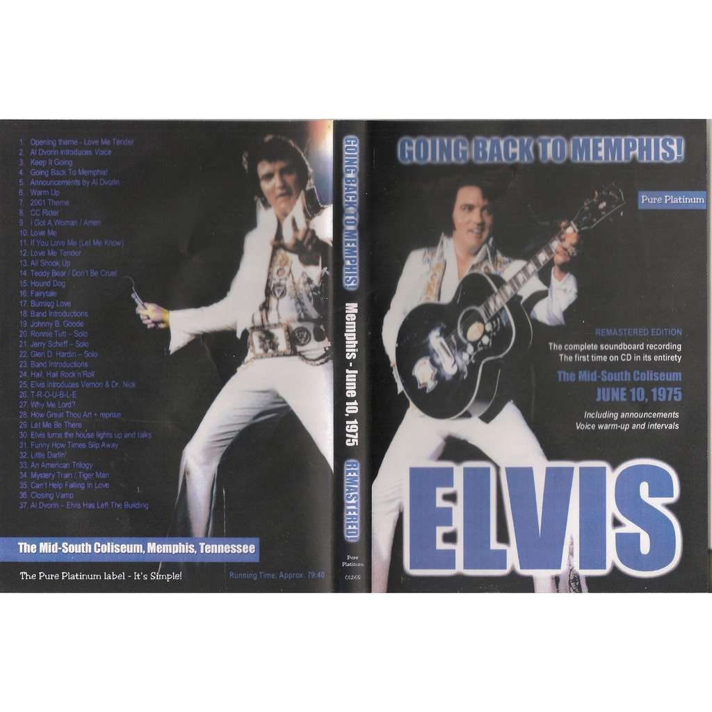 elvis presley 1 cd going back to memphis cd 10/6/75 soundboard show