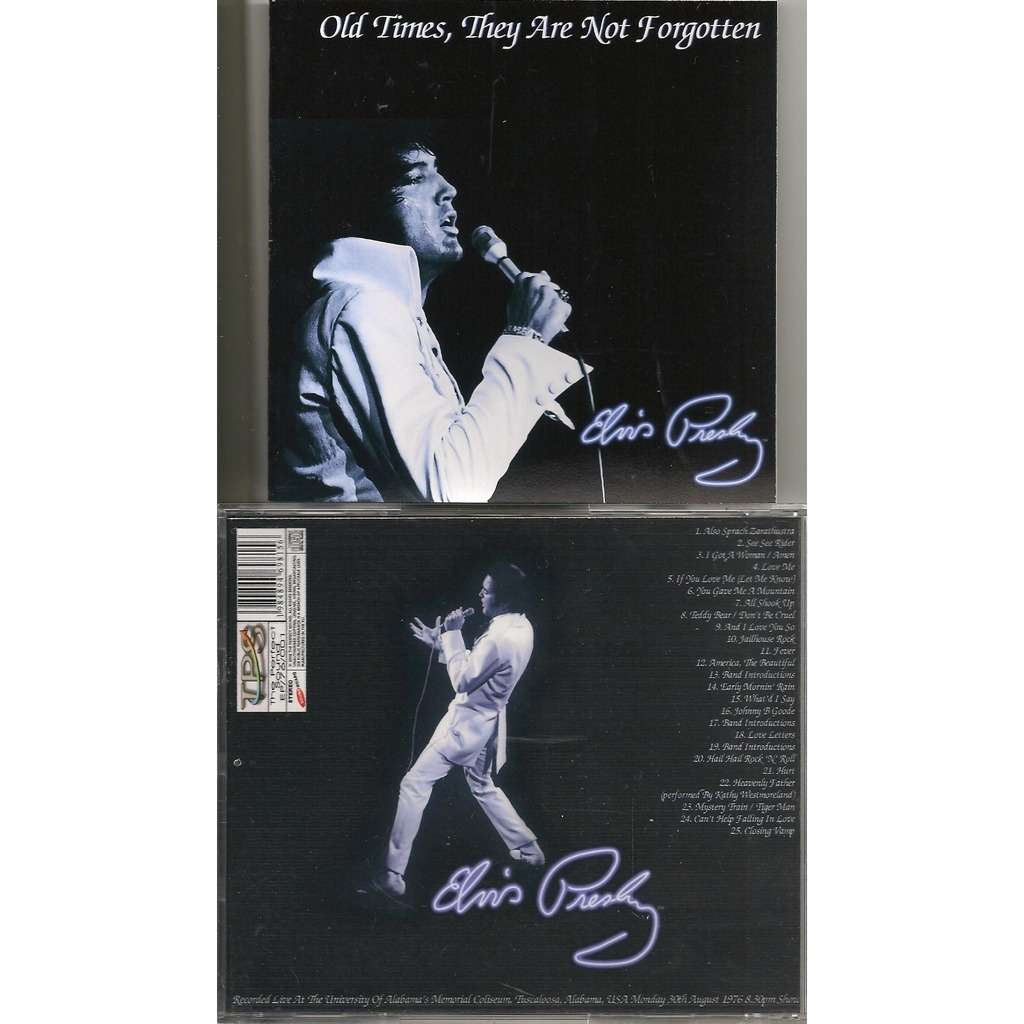 elvis presley 1 cd old time they are not forgotten cd 30/8/76 tuscaloosa soundboard show
