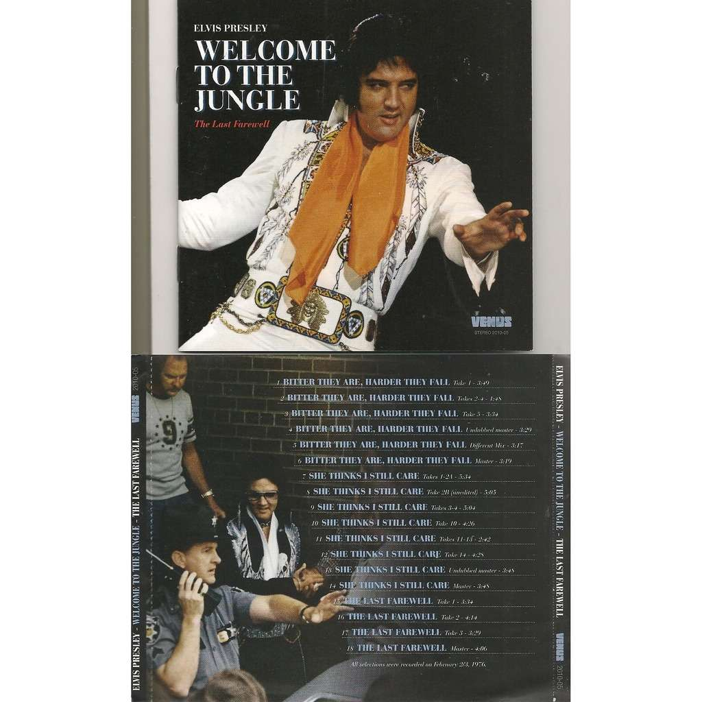elvis presley 001 cd welcome to the jungle the last farewell cd 23 outtakes & masters 1976
