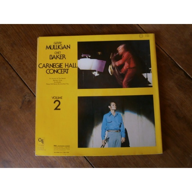 gerry mulligan / chet baker Carnegie hall concert - volume 2