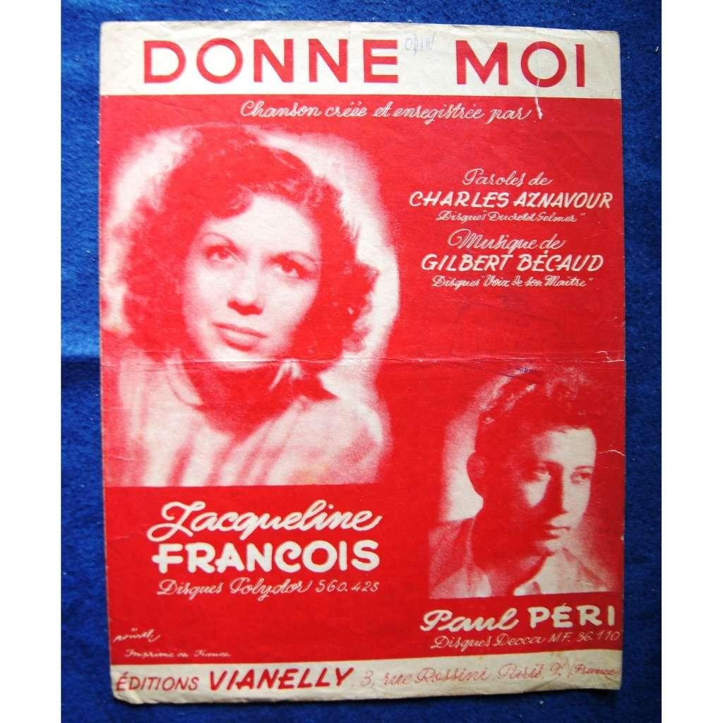 JACQUELINE FRANCOIS / Paul PERI DONNE MOI