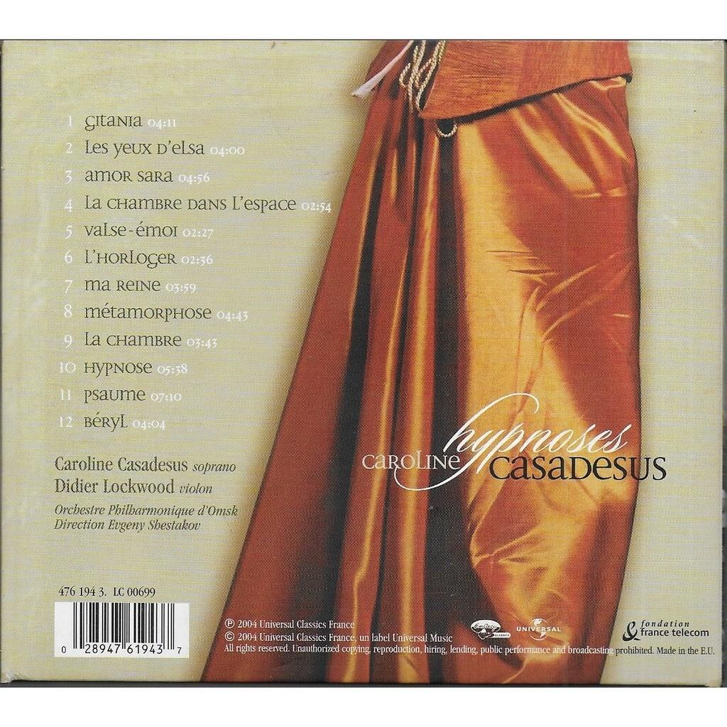 Caroline CASADESUS Hypnoses (Poèmes Lyriques de Didier LOCKWOOD)
