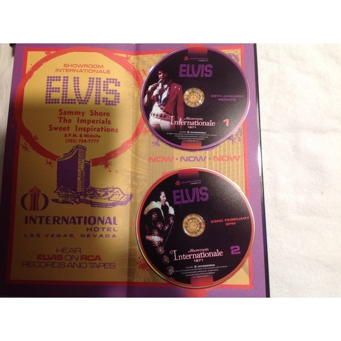 elvis presley 1 box 2 cd with 80 pages book showroom internationale 2 soundbaord 1971 shows
