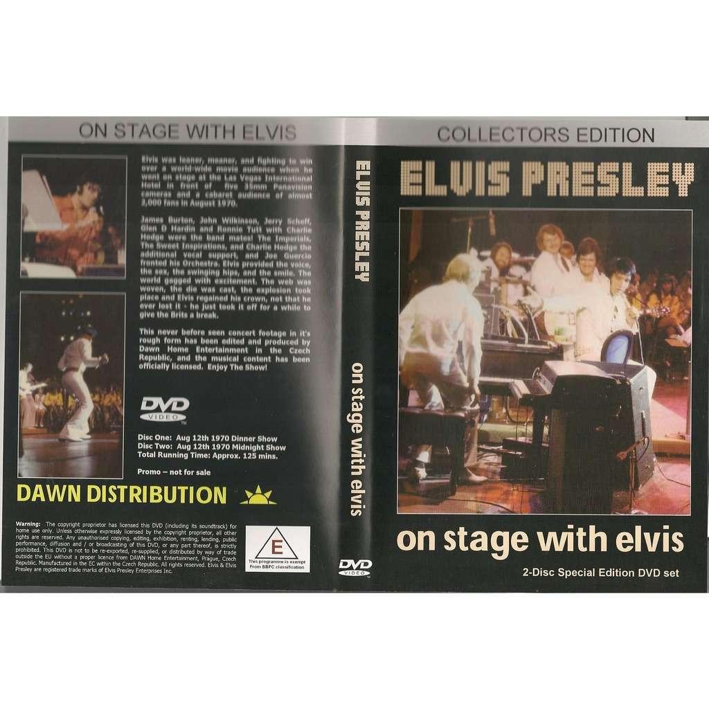 elvis presley 002 dvd set on stage with elvis 2 dvd 12/8/70 las vegas dinner & midnight shows