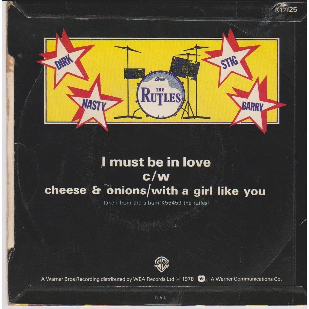 THE RUTLES I MUST BE IN LOVE CHEESE & ONIONS WITH A GIRL LIKE YOU