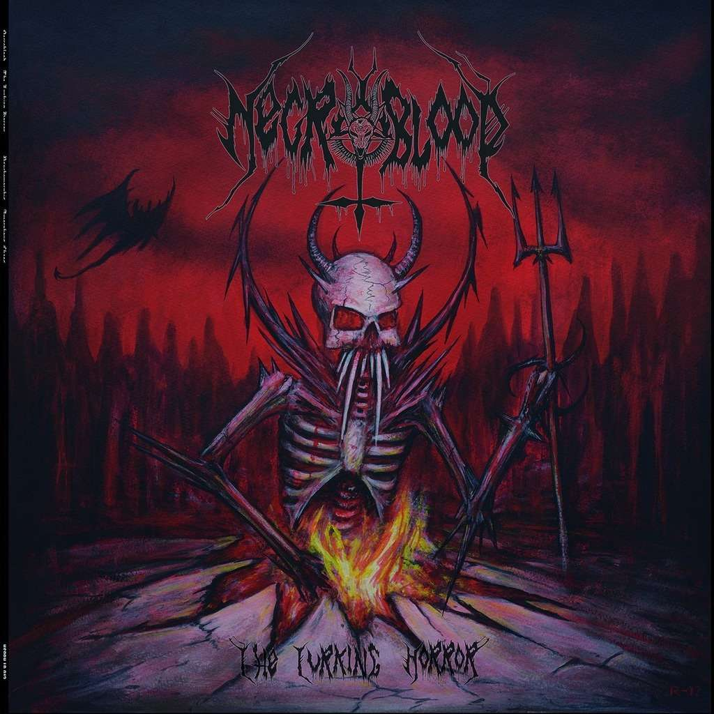 NECROBLOOD / PSYCHOMORPHIS The Lurking Horror - Amorphous Chaos. Black Vinyl