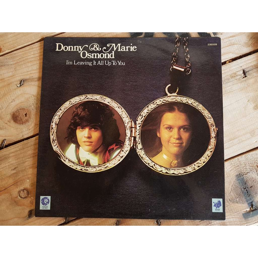 donny et marie osmond I'm leaving it all up to you